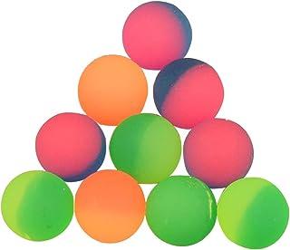Toyvian 20pcs Bouncy Balls Swirl Bouncing Balls Party Bolsa de Relleno para los niños Tiempo de Juego Cumpleaños Favores de Fiesta (Color Mezclado) 25 mm