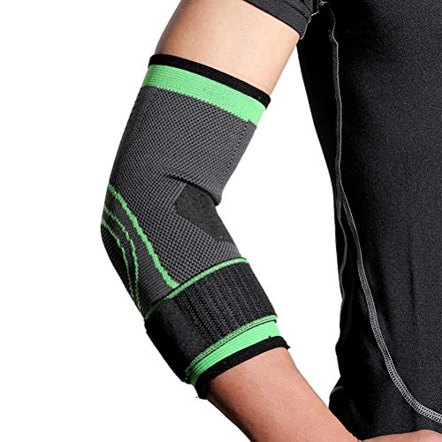 Settoo Sport-Ellenbogen-Bandage,Schwarz Unisex Sport Ellenbogen Unterstützung Protector - Gute Flexibilität & Weich und Bequem