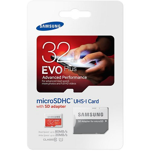 Price comparison product image Samsung Evo Plus 32GB MicroSD HC Class 10 UHS-1 Mobile Memory Card for Samsung Galaxy J3 J1 Nxt Ace A9 A7 A5 A3 Tab A 7.0 E 8.0 View On7 On5 Z3 with SD Memory Card Reader