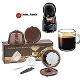 Cápsulas de café reutilizables Dolce Gusto, de acero inoxidable,...