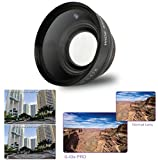 52mm .43x Wide Angle Lens with Macro for Canon EOS Rebel T6s, T6i, SL1, T5, T5i, T4i, T3, T3i, T1i, T2i, XSI, XS, XTI, XT, 70D, 60D, 60Da, 50D, 40D, 30D, 20D, 10D, 7D Digital SLR DSLR Cameras