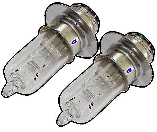 Aerzetix: 2 x Birnen Lampen M5 12V 35/35W P15d-25-1 für Motorradroller C18930