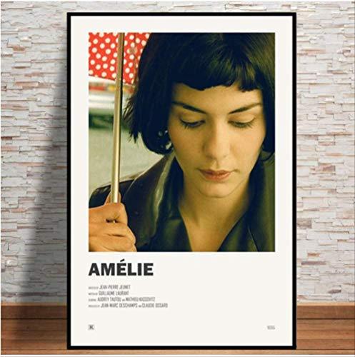 nobrand Poster Kind Geschenk Amelie Film Tv Serie Zeigen Vintage Anime Kunst Leinwand Ölgemälde Wandbilder Wohnzimmer Wohnkultur 50 * 70 cm Kein Rahmen