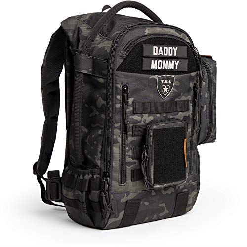 Tactical Baby Gear Daypack 3.0 Tactical Diaper Bag Backpack Combo Set (Black Camo)