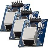 AZDelivery 3 x ENC28J60 Ethernet LAN Modulo de Red para Arduino con eBook incluido