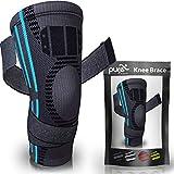 PURE SUPPORT Sport Kniebandage | mit Bänder-Kompression Patella-Stabilisator für Meniskusriss | Arthritis-Schmerzen | Laufen | Basketball | Crossfit | Sport | Fitnessstudio | Frauen | Männer