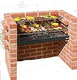 Black Knight Ensemble Lourde Grille en Acier Inoxydable et Grille de réchauffement pour Barbecue en Briques Conforme à la Norme de sécurité et de qualité en 1860:2013-1 90x 30cm