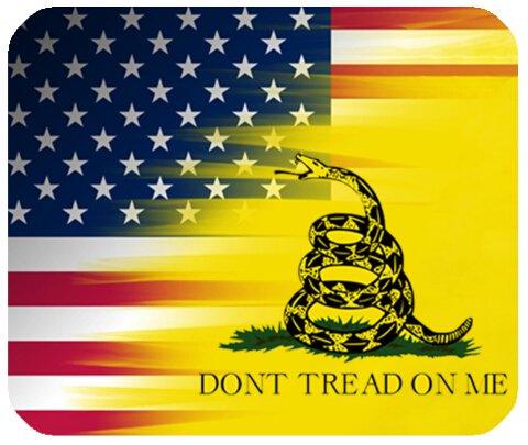 Don 't Tread auf mich, auf Amerikanische Flagge Individuelle Rechteck rutschfeste Gummi Mauspad Gaming Mauspad