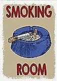 Placa de metal de 20 x 30 cm, decoración de sala de fumadores para decoración del hogar Wll para café bar habitación decoración vintage