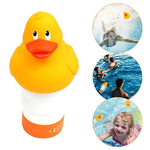 Pool Duck Pool Chlorinator, Cartoon Swimming Pool Chlorine Diffuser, Large Capacity Animal Chlorine Floating Agent, Can Accommodate Multiple Cleaning Tablets
