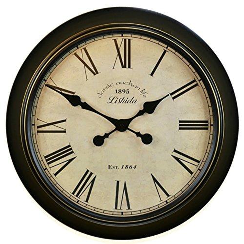 Bonne action Horloge murale Européenne Vintage Quiet Horloge Murale Salon Jane Européenne Horloge Murale Antique Horloge Murale Horloge Nostalgique Nordique ( Couleur : B )