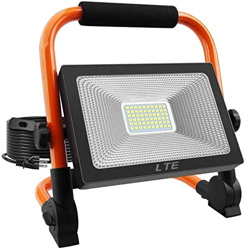 LED Work Light 50W 5500LM Portable Outdoor Flood Light 6000K IP66 Waterproof Camping Security product image