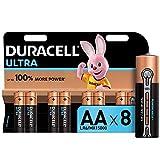 Duracell Ultra AA Alkaline Batteries, 1.5 V LR06 MX1500, Pack of 8