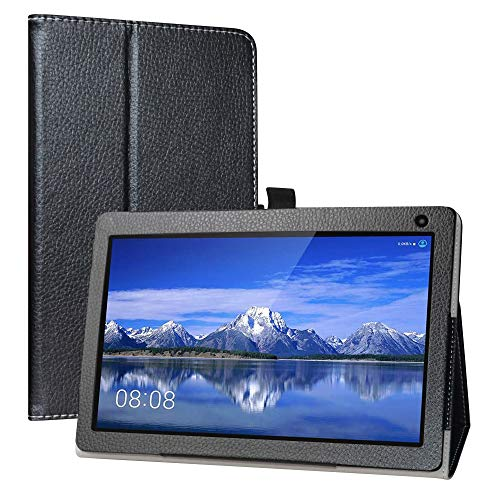 LiuShan Compatible with Fusion5 104Bv2 PRO Case,PU Leather Slim Folding Stand Cover for 10.1' Fusion5 104Bv2 PRO Android 9.0 Pie Tablet PC (Not Fit Fusion5 104Bv2 / 104Bv2 Plus),Black