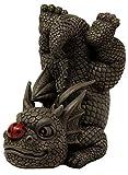 Motivo Floreale Statuetta Decorativa a Forma di Drago da Giardino MystiCalls by Mayer Chess