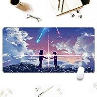 マウスパッド おおきめ ゲーミングマウスマット、 ナルトマウスパッドゲーミングラージXXLナルトアニメマウスパッドゲーマービッグマウスマットコンピュータデスクマットXXLキーボードパッド-A_900x400x3mm