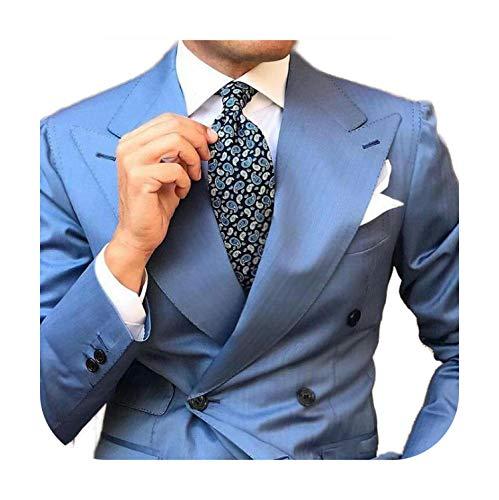 Outwear Amplio Peaked Designs Azul Hombre Trajes Hombre Africano Vestimenta Novio Esmoquin Terno Masculino Hombre Traje Fiesta Fiesta De Dos Piezas Traje