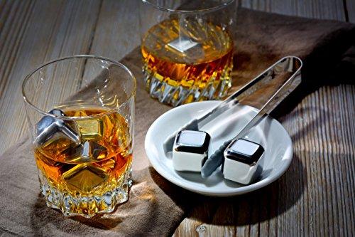 GRÄWE Whiskysteine-Set Edelstahl - Kühlsteine für Getränke, 6 Stück im Beutel - 3