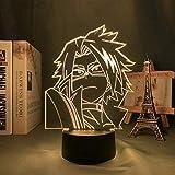 3D Anime lamp led Light Denki Kaminari Anime Led Night Light My Hero Academia for Bedroom Decor Birthday Gift Manga 7 Color Change Decor Lamp Touch for Kids ZHUILWL HOICHAN