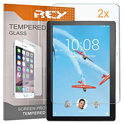 REY Screen Protector for LENOVO TAB P10 10.1', Tempered Glass Film, Premium quality, Perfect protection for scratches, breaks, moisture, [Pack 2x]
