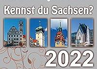 Kennst du Sachsen? (Wandkalender 2022 DIN A2 quer): Besondere Sehenswuerdigkeiten in Sachsen (Monatskalender, 14 Seiten )