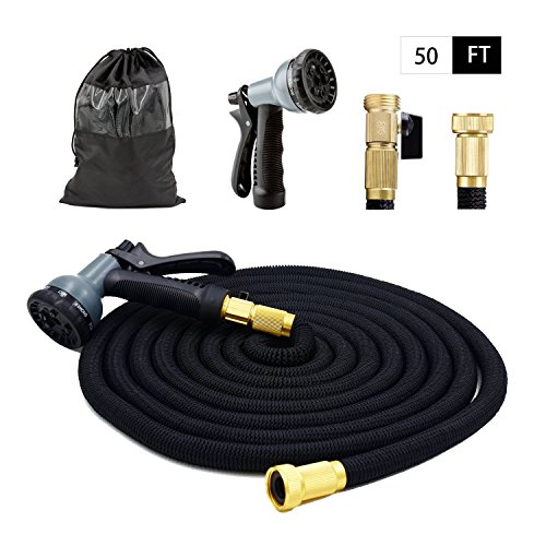 HappyHomey Expandable Garden Hose 50 & 100 Feet With Strongest Triple...