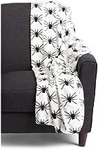 Halloween Spiders Decorative Velvety Plush Throw Blanket - Fleece Lined