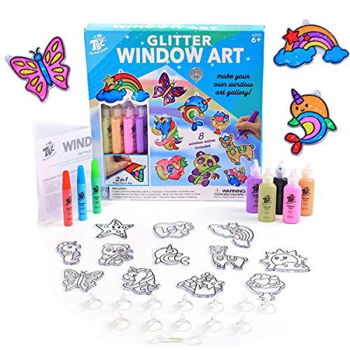 TBC The Best Crafts Fenster Art Farben Window Art Color Kit Weinachten Dekoration Geschenke für Kinder Mädchen Junge