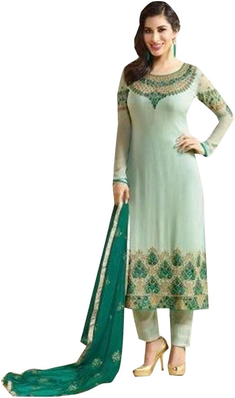 Indian straight salwar kameez suit with Dupatta Casual wear 7383