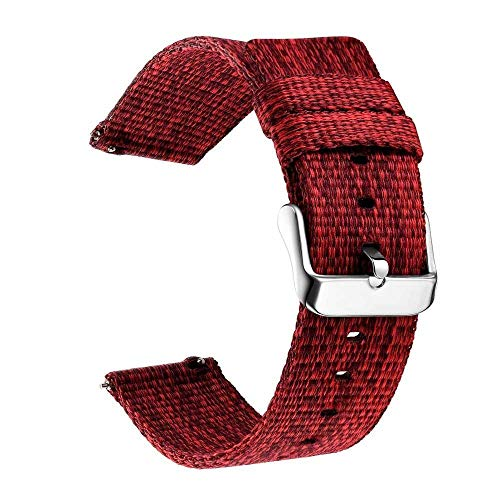 YMYGCC Correa Reloj 18 mm 20 mm 22 mm Reloj de Reloj para Galaxy Watch 46mm 42mm Gear S3 S2 Sport Watch Strap Reemplazo 711 (Band Color : Red, Band Width : 20mm)