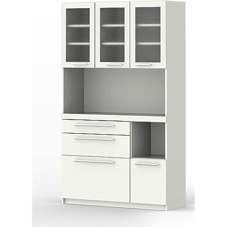 パモウナ 食器棚YC プレーンホワイト 幅105×高さ180×奥行40 日本製 YC-S1050R