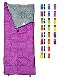 REVALCAMP Lightweight Violet/Purple Sleeping Bag Indoor & Outdoor...