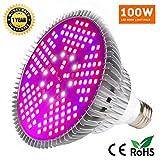 100W LED Grow Light Bulb - Full Spectrum Plant Light Bulb for Indoor