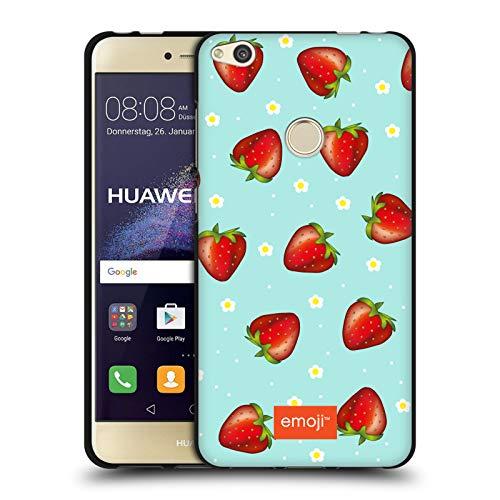 Head Case Designs Oficial Emoji Fresas Frutas Funda de Gel Negro Compatible con Huawei P8 Lite (2017)