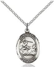 DiamondJewelryNY Sterling Silver St. Joshua Pendant
