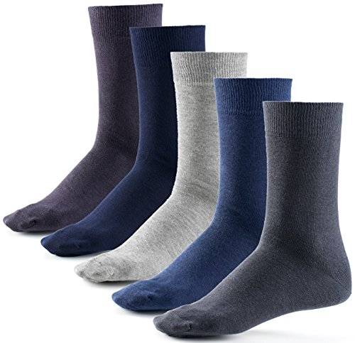 Mat and Vic's Cotton Classic Socken, 10 Paar, größe 39/42, Jeans Colors
