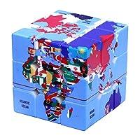hobbyant 3x3x3マジックCubeパズルおもちゃ地理的位置パターン救済速度マジックCube早期学習教育玩具クリエイティブギフト