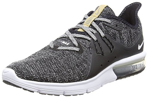 Nike Men's, Air Max Sequent 3 Running Sneaker Black Grey 7.5 M