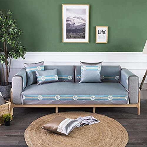 Sofa Überwürfe 1,2,3,4-Sitzer, Ecksofabezug Rückenlehne Handtuch für Wohnzimmer, Kinder und Haustiere,-90x180 cm_Grün-Verkauft in stück
