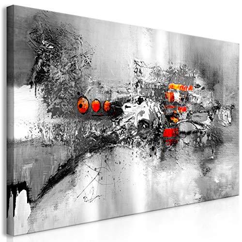 decomonkey Bilder Abstrakt 120x60 cm 1 Teilig Leinwandbilder Bild auf Leinwand Vlies Wandbild Kunstdruck Wanddeko Wand Wohnzimmer Wanddekoration Deko Modern schwarz weiß