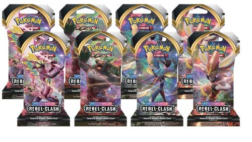 Pokemon Sword and Shield Rebel Clash: 8 Sleeved Booster Packs