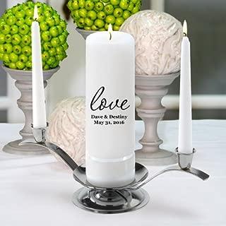 Personalized Wedding Unity Candle - Personalized Unity Candle Set - Amore