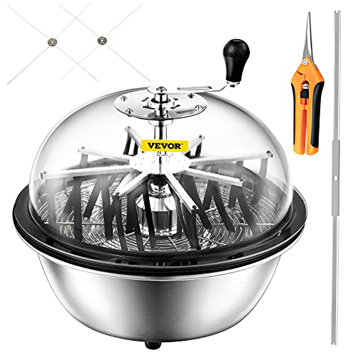 Happybuy 24 Inch Bowl Trimmer Leaf Bowl Trimmer Hydroponic Pro Bowl Trimmer Hand Leaf Bud Trim Reaper Cutter Twisted Spin Cut for Plant Bud and Flower