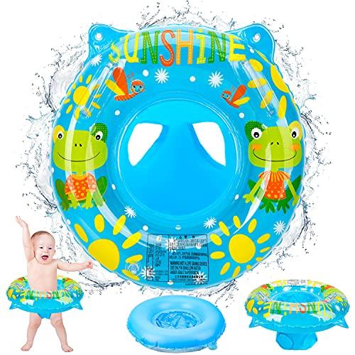 Salvagente Neonato, Anello di Nuoto per Bambini con Protezione Solare Tetto Salvagente Bambini con Campanelle Inside Ciambella Neonato da 6 Mesi a 36 Mesi 13
