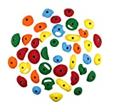 40 Pack Sampler | Kid's Bolt-on Rock Climbing Holds | Assorted Bright Tones