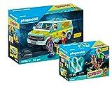 PLAYMOBIL® Scooby DOO! Juego de 2 Piezas 70286 70287 La Máquina del Misterio + Scooby & Shaggy con Fantasma