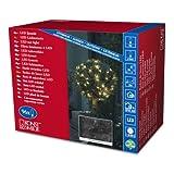 Konstsmide 3757-100 LED Lichternetz / für Außen (IP44) / 24V Außentrafo / 96 bunte Dioden / schwarzes Kabel