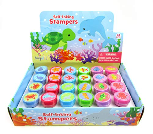 TINYMILLS 24 Pcs Sea Animals Ocean Life Stampers for Kids