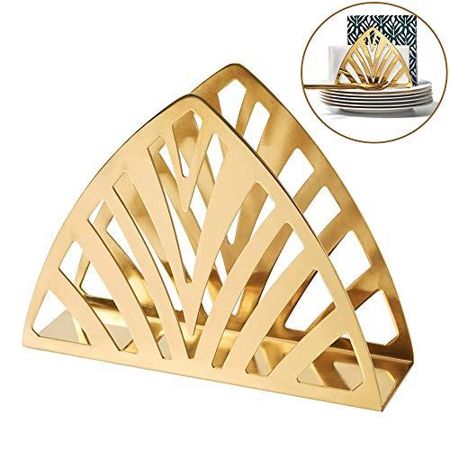 WING Serviettenhalter Gold, serviettenhalter Metall Edelstahl modern Serviettenständer für Tisch Esstisch Küchentheke, 19 * 5,5 * 14 cm,1pcs