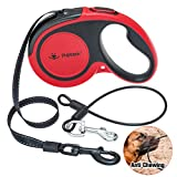 PUPTECK Retractable Dog Leash with Anti-Chewing Steel Wire, 360°Tangle-Free Pet Walking Leash for Small Medium Large Dogs, Heavy Duty up to 110lbs, 16ft Strong Reflective Leash, One-Hand Brake